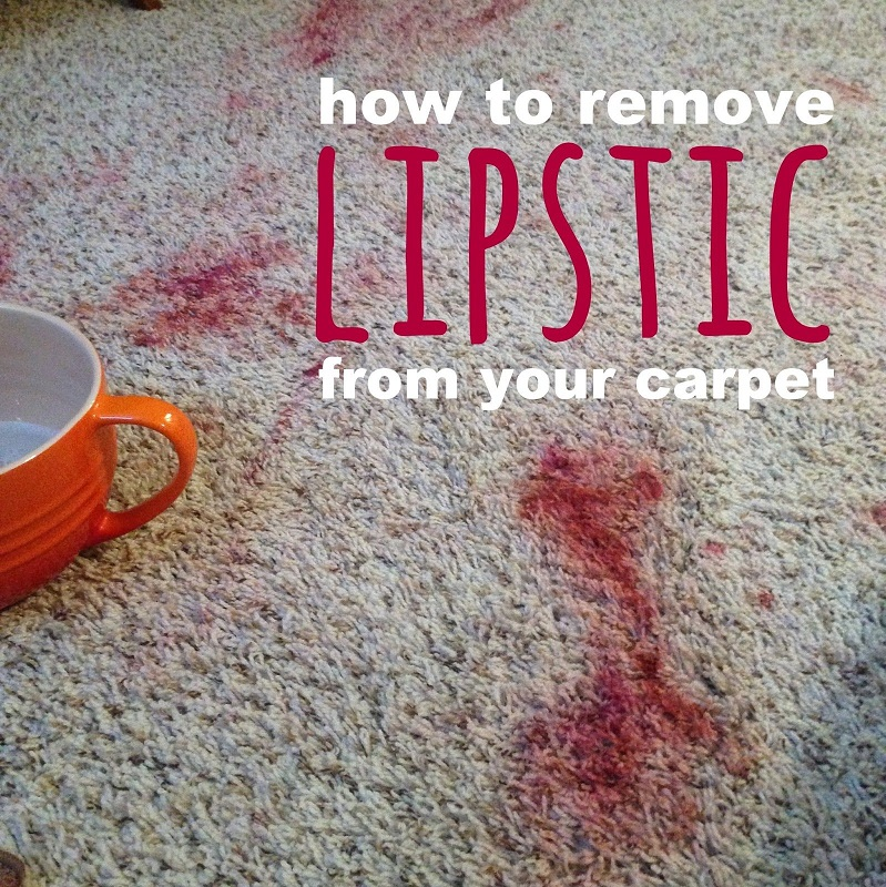 How To Remove Lipstick Out of Your Carpet